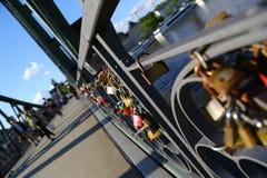 Frankfurt locks bridge royalty free stock photos