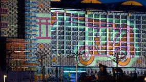 Frankfurt Luminale Grossmarkthalle Construction Royalty Free Stock Images