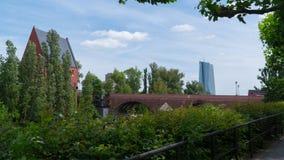 Frankfurt - Am - magistrala, Czerwiec 2017 w dobrej pogodzie Zdjęcie Stock