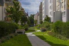 Frankfurt - Am - magistrala, Niemcy, gromadzki Gallus, Gallusviertel: n Zdjęcia Stock