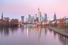 Frankfurt - Am - magistrala w ranku, Niemcy zdjęcie stock