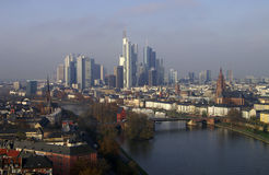 Frankfurt am Main. The skyline of Frankfurt am Main in Germany Stock Photo