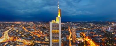 Frankfurt am Main. Panoramic view of Frankfurt am Main at dusk Royalty Free Stock Photography
