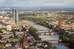 Frankfurt am Main. Aerial view, Germany royalty free stock photos