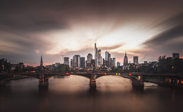 Frankfurt am Main. A beautiful evening in Frankfurt royalty free stock images