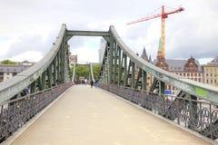 Frankfurt am Main. Bridge over river Royalty Free Stock Images