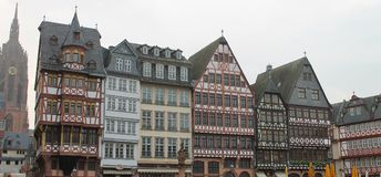 Frankfurt on the Main City. Central Square Royalty Free Stock Photo