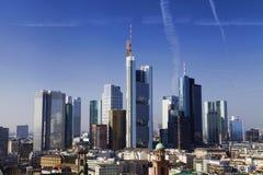 Frankfurt am Main city skyline Royalty Free Stock Image