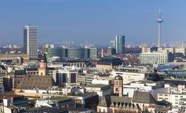 Frankfurt am Main city skyline Stock Image