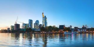 Frankfurt am Main cityscape at sunset Royalty Free Stock Images