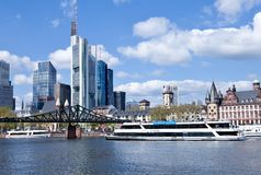 Frankfurt am Main - cruise ship Stock Photography