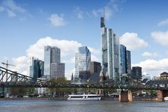 Frankfurt am Main - cruise ship Royalty Free Stock Photos