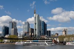 Frankfurt am Main - cruise ship Royalty Free Stock Images