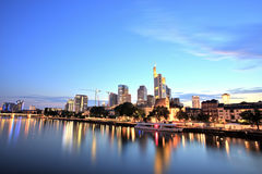 Frankfurt am Main Downtown Cityscape Stock Photos