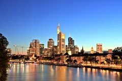 Frankfurt am Main Downtown Cityscape Royalty Free Stock Photography