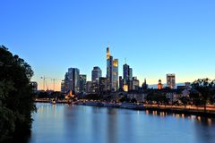Frankfurt am Main Downtown Cityscape Stock Image