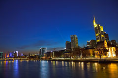 Frankfurt am Main at dusk Stock Photo