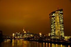 Frankfurt-am-Main en la noche Foto de archivo