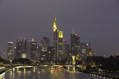 Frankfurt am Main. In evening Royalty Free Stock Photos