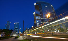 Frankfurt am main fair district at night Stock Photography