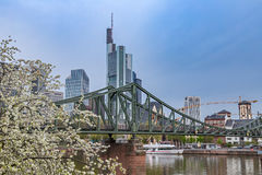Frankfurt am Main. Frankfurt financial district and Main river Stock Photo
