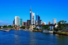 Frankfurt am Main - Blue Skyline Royalty Free Stock Photos