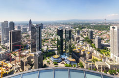 Frankfurt am Main Germany - cityscape aerial view stock images