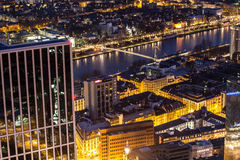 Frankfurt am main germany cityscape at night Royalty Free Stock Photos