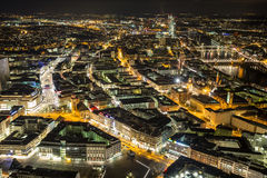 Frankfurt am main germany cityscape at night Royalty Free Stock Images