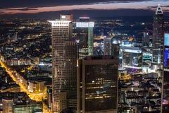 Frankfurt am main germany cityscape at night Royalty Free Stock Image
