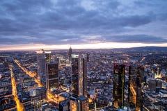 Frankfurt am main germany cityscape at night Stock Photo