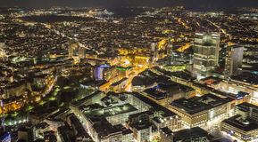 Frankfurt am main germany cityscape at night Royalty Free Stock Photography