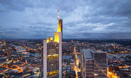 Frankfurt am main germany cityscape at night Stock Images