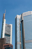 Frankfurt am Main Germany - Comerzbank, ECB - high-rise buildings Stock Photo