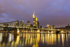 Frankfurt am Main in Germany. In the evening royalty free stock image