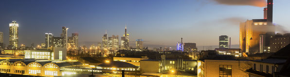 Frankfurt am Main in Germany in the morning. Panorama of Frankfurt am Main in Germany in the morning royalty free stock image