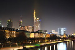 Frankfurt am Main, Germany by night Royalty Free Stock Photography
