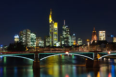 Frankfurt am Main, Germany at night Stock Image