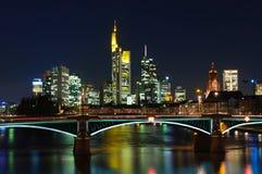 Frankfurt am Main, Germany at night Stock Image