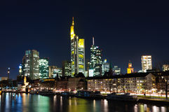 Frankfurt am Main, Germany at night Royalty Free Stock Photography