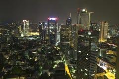 Frankfurt am main germany at night from above Stock Photo