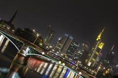 Frankfurt am main germany skyline at night Royalty Free Stock Photography