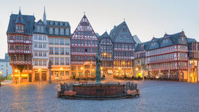 Frankfurt am Main, Germany. View of the old market of Frankfurt the so called Romerberg Stock Photo
