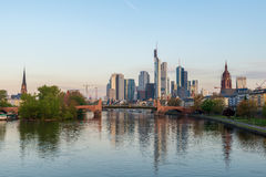 Frankfurt am Main. Image of Frankfurt am Main skyline at morning Royalty Free Stock Image
