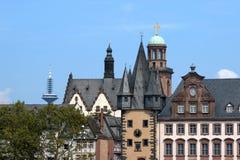 Frankfurt am Main. Landmarks of Frankfurt am Main: TV Tower, Paulskirche, Rententurm, Römer, Bernusbau Stock Image