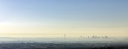 frankfurt am Main in morning fog Stock Photos