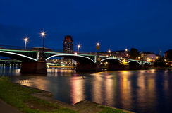 Frankfurt am Main at night Royalty Free Stock Photo