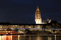 Frankfurt am Main at night Royalty Free Stock Image