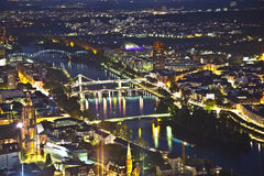Frankfurt am Main at night Stock Photo