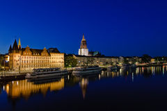 Frankfurt am Main at night Royalty Free Stock Photography